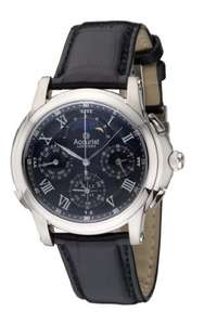 Accurist Men's Quartz Watch with Black Dial Chronograph Display and Black Leather Strap Gmt322B - £197.29