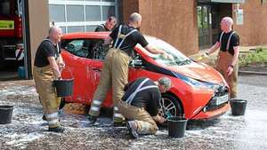 Let firefighters wash your car for charity - Pay what you like at about 600 locations