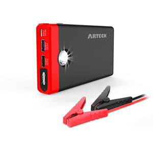 Arteck Car Jump Starter Up To 4.0L Auto Battery Charger and 12000mAh Portable External Battery £34.39 Sold by ARTECK and Fulfilled by Amazon.
