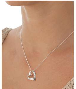 Moon & Back Sterling Silver Heart Mum Message Pendant, £14.99 @ Argos free c&c