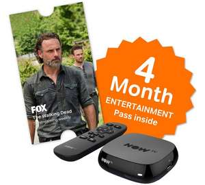 NOWTV with 4 Month Entertainment Pass only £24.99 at Argos