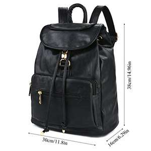 Black faux Leather Backpack Drawstring Backpack £12.99 prime / £17.74 non prime Sold by Bageek Direct and Fulfilled by Amazon