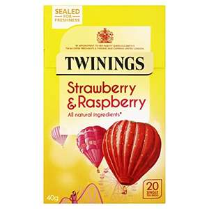 Amazon Add-on deal for Twinings Raspberry & Strawberry 20 Tea Bags (Pack of 4, total 80 Tea Bags) £4 more Twinings links in post.