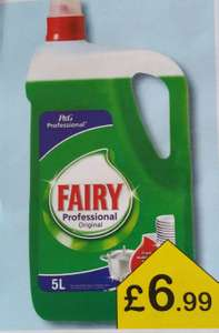 Fairy washing up liquid 5 litres £6.99 @ Farmfoods