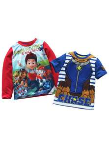 Boys PAW Patrol 2 Pack of T-Shirts (4 Sizes) + Free click and collect at Argos