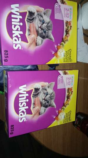 Whiskas kitten food 825g box 2 for £3 B&M