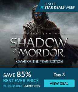 [Steam] Middle-earth: Shadow of Mordor Game of the Year Edition - £2.39 - Fanatical