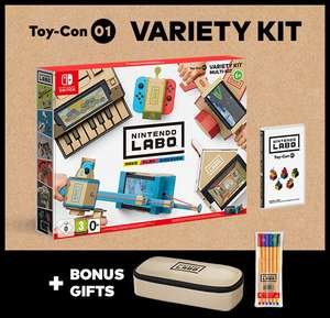 Free Pencil Case and Markers Worth £14.99 when you buy LABO Variety Kit (£59.99) or Robot Kit (£69.99) from Nintendo Direct