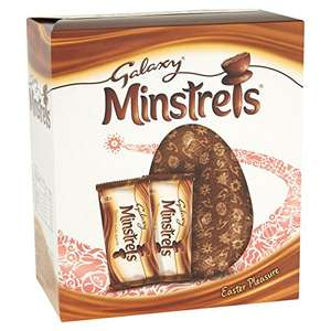 Galaxy Minstrels Large Chocolate Easter Egg, 262 g, Pack of 4 £8 prime / £12.75 non prime @ Amazon  (Back order)