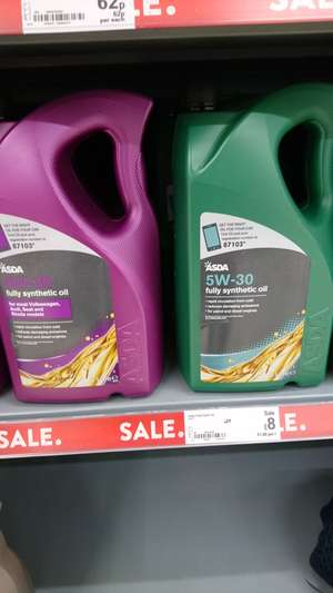 5 litre fully synthetic motor oil less than half price £8 @ asda