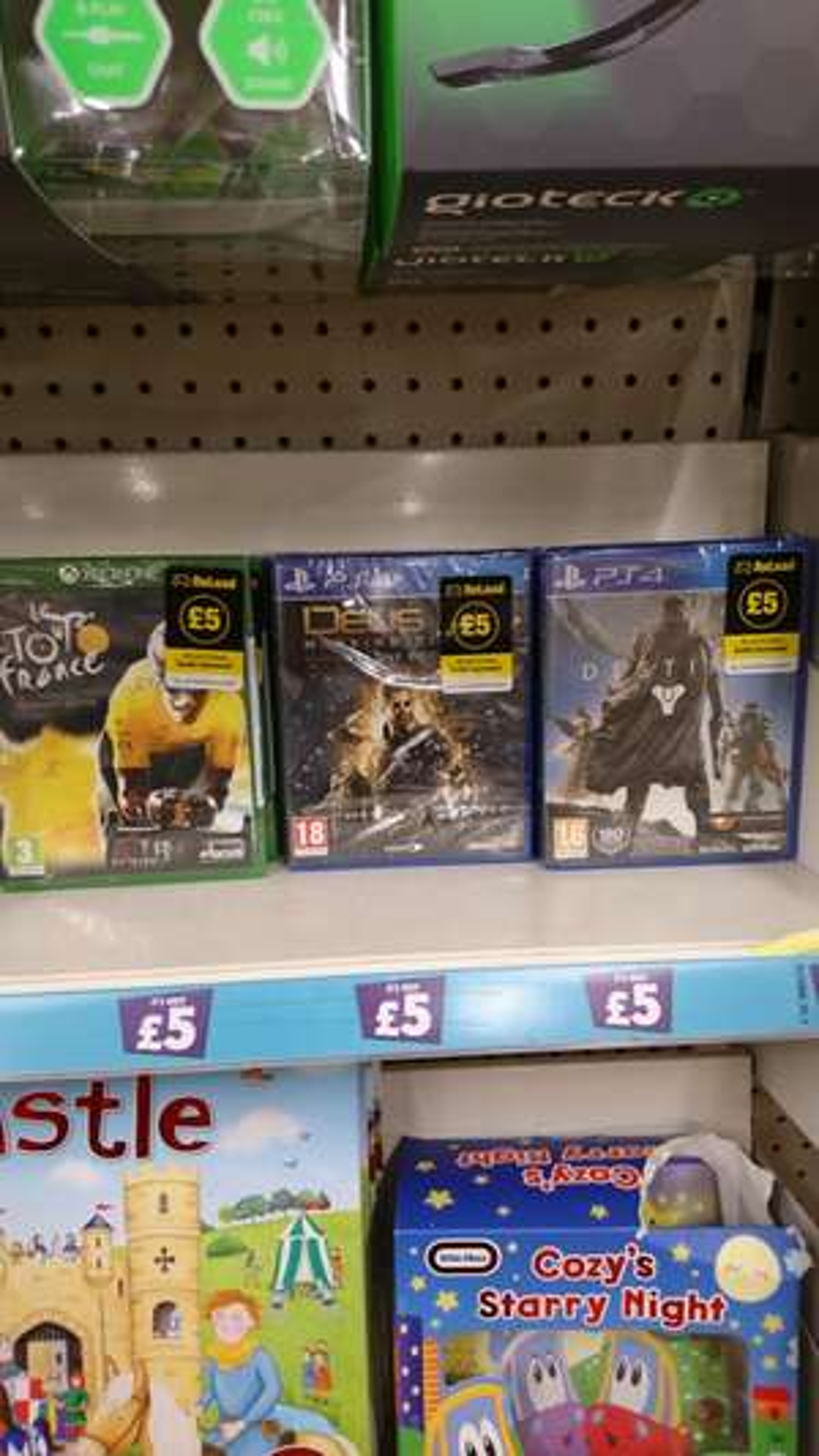 Ps4 and xbox one games such as Deus Ex and Destiny @ poundland - £5