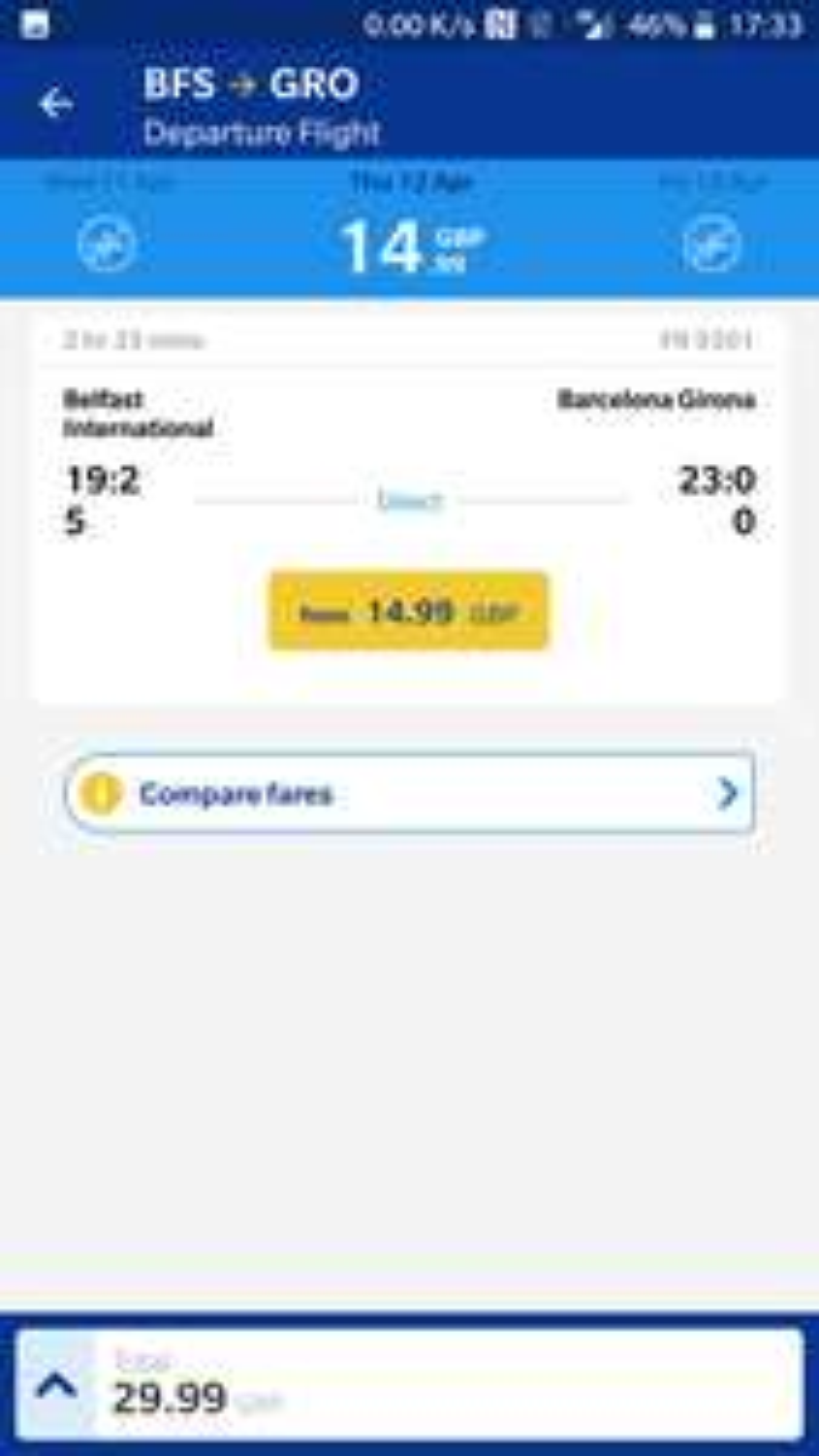 UPDATE  Deal for NI . Belfast - Barcelona Girona Ryanair flights £30 return all April @ Ryanair