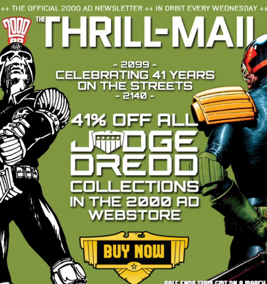 Judge Dredd Case Files/Graphic Novels (digital £5.89/Print £11.79) 41% off @ 2000AD Shop