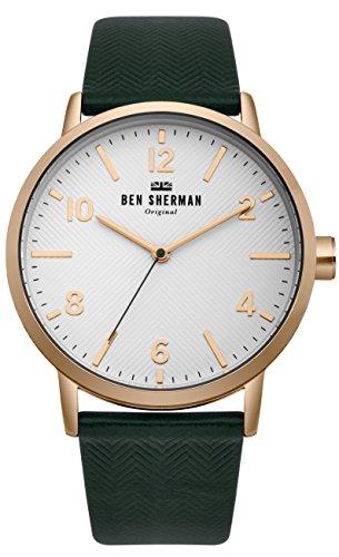 BEN SHERMAN Men's Portobello Watch with Racing Green Real Leather Strap £15.92 (Prime) / £19.91 (non Prime) at Amazon
