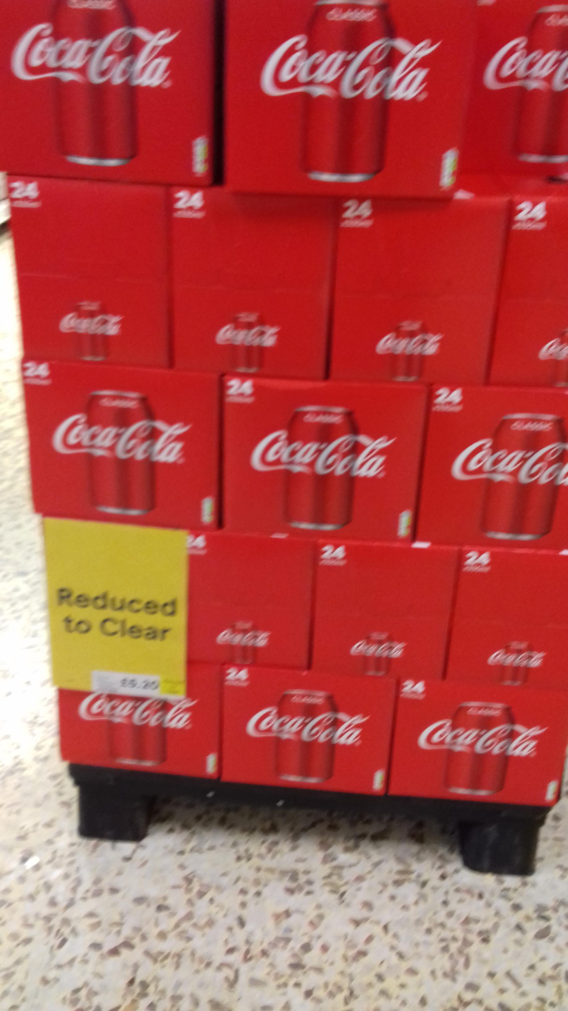 coke /diet coke 24 pack only £5.20 Tesco instore