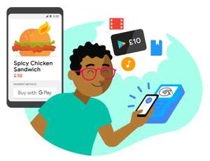Get £10 free Google play credit by using Google Pay (GPay - previously Android Pay) - New Users + 5 Purchases Required (limit 1 per day)