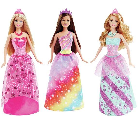 Barbie Princess Doll Assortment for £5.99 Per Doll at Argos