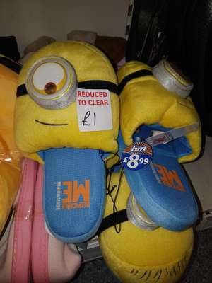 Despicable me women's slippers £1 at B&M instore