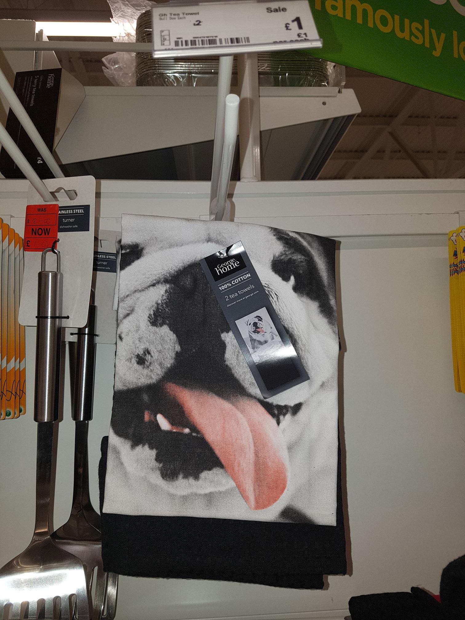George HOME dog tea towels £1 at Asda instore