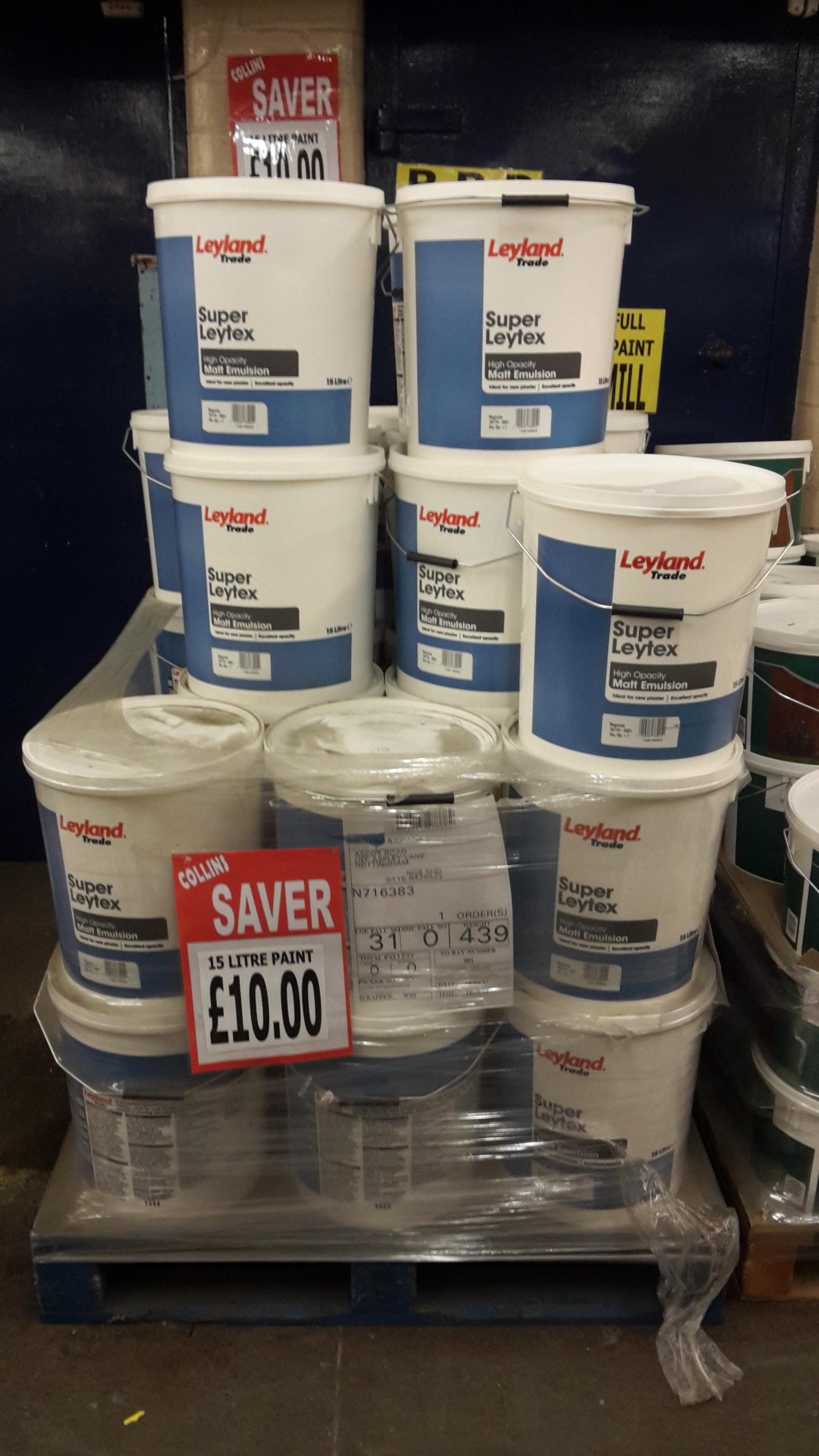 Leyland paint 15 litres - £10 instore @ Collins Cash & Carry (Nottingham)
