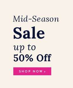 Upto 50% Off Mid-Season Sale + Free Next Day C+C @ Joules (prices starting from £2.95)
