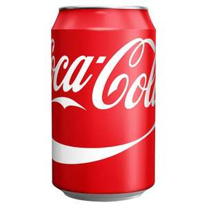 Single cans Coca Cola reduced to clear instore Tesco Piccadilly Manchester - 46p