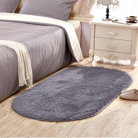 Grey 40x60cm Bedside Mat / Rug now £3.26 delivered  w/code @ Rosegal