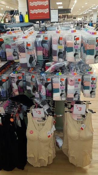 Ladies underwear reduced instore Primark - various designs from £1
