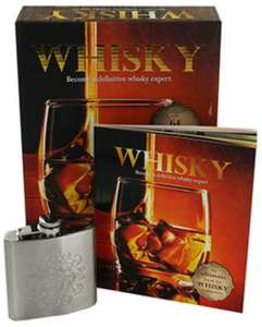 Whisky book & s/steel hip flask boxed gift set. £3.50 @ The Works. Free C&C
