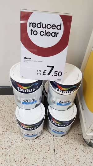 Dulux 5L White Matt - £7.50 @ Wilko in-store