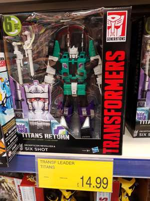Transformers Titans Return Leader Class Six Shot and Sky Shadow - £14.99 instore @ B&M