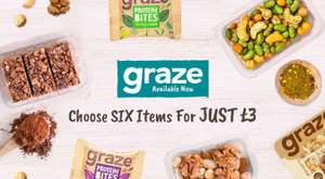 GRAZE 6 for JUST £3 @ Musclefood min spend £10 del £3.99