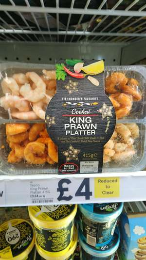 Cooked king prawn platter 415g reduced from £8 to £4 @ tesco instore