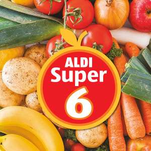 ALDI Super Six Thursday  15 March to Wednesday 28 March 69p