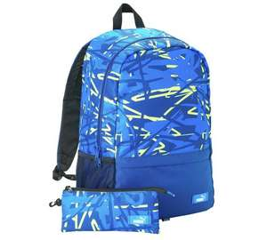 Puma Backpack and Pencil Case - Blue £8.99 @ Argos.