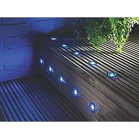 LAP APOLLO LED DECK LIGHT KIT POLISHED STAINLESS STEEL BLUE 0.05W 10 PACK £14.99 @ Screwfix (C&C)