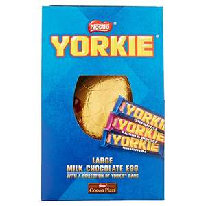 Nestle Yorkie Collection Giant Chocolate Easter Eggs, 360 g amazon pantry 2.99 for first box then 99p after (Prime Exclusive)