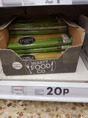 500g Spaghetti only 20p in store and online at Tesco