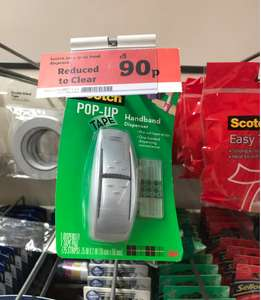 Sainsburys - Scotch tape dispenser plus tape was £3 now 90p - instore (Crayford)