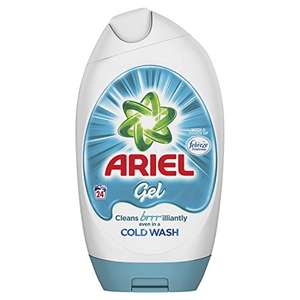 Ariel Washing Gel Touch of Febreze, Cleans Brilliantly Even in Cold Wash, 888 ml 24 Washes, Pack of 6 amazon pantry 2.99 delivery for first box then 99 p after