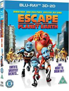 Escape From Planet Earth [Blu-ray] 3D + 2D £3.75 delivered with prime £5.74 Non Prime  @ amazon