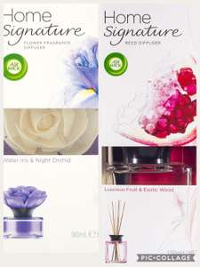 Air Wick Home Signature Reeds Diffusers water iris & night orchid + Luscious Fruit & Exotic Wood £2 at poundland