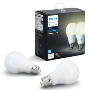 3for2 Philips Hue White 9.5W A60 Smart Bulb E27 Fitting Pack of 2 - £49.98 @ John Lewis