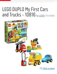 Lego Duplo 10816 My First Cars and Trucks , £11.99 @ argos/tesco free c&c