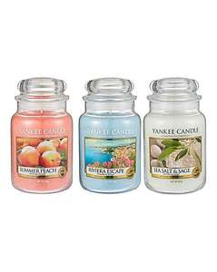 Yankee candle, 3 large jars £37.50 + £3.50 delivery - Fashion World