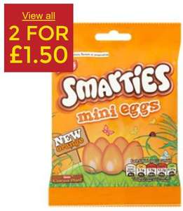 Smarties Orange Mini Eggs (90g) 2 for £1.50 @ Asda