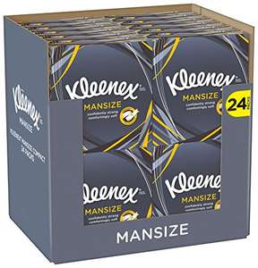 Kleenex Mansize Tissues, Compact - Pack of 24 (1056 Tissues Total) £12 - Amazon Prime Exclusive
