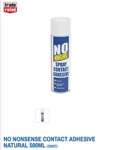 NO NONSENSE CONTACT ADHESIVE NATURAL 500ML @ Screwfix - £3.99