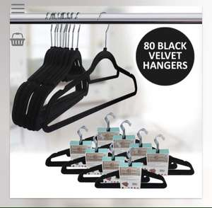 80 Black Velvet Hangers £14.99 delivered @ Weeklydeals4less