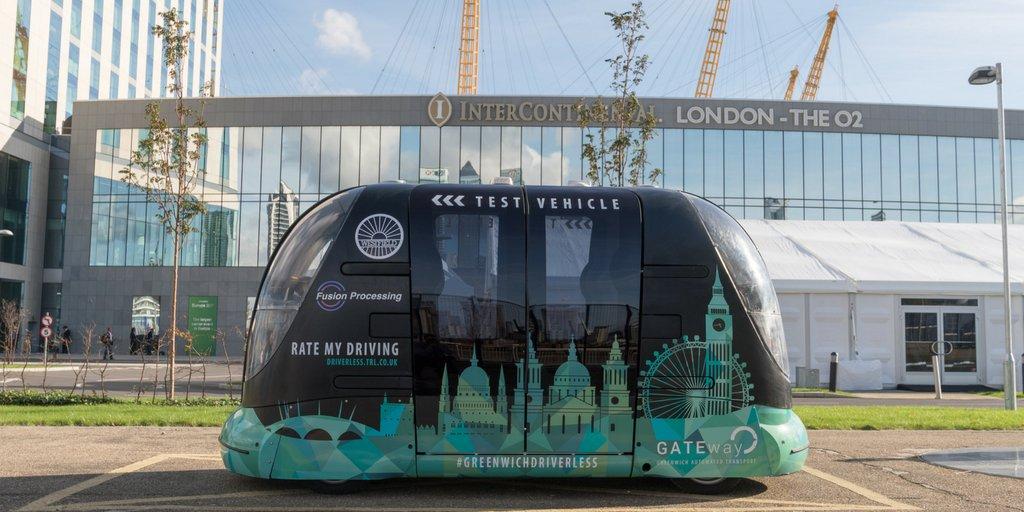 free journeys in driverless pods - greenwich